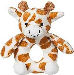 Apricot Lamb Baby Giraffe Soft Rattle Toy, Plush Stuffed Animal for Newborn Soft Hand Grip Shaker Over 0 Months ( Giraffe, 4 Inches)