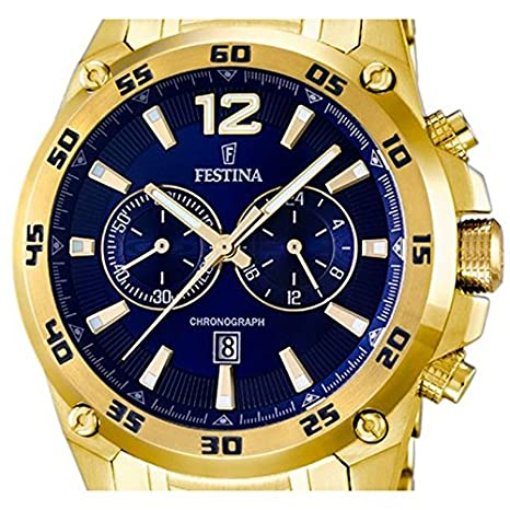 Amazon.com: Festina Chrono Sport F16806/2 Mens Chronograph Solid Case: Watches