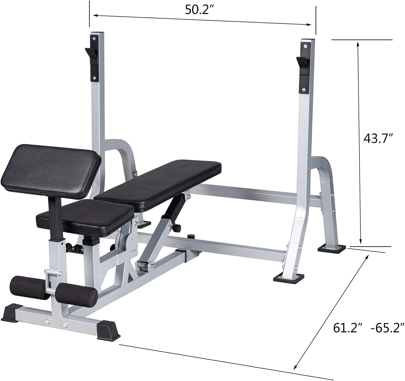 BuyHive Weight Bench Multifunctional Bench Press Weight Lifting Workout Strength Training