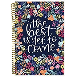 "bloom daily planners 2019 Calendar Year Day Planner - Passion/Goal Organizer - Monthly and Weekly Dated Agenda Book - (January 2019 - December 2019) - 6"" x 8.25"" - The Best is Yet to Come"