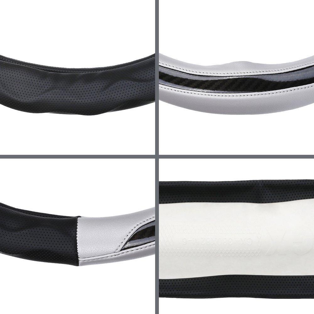 Design traspirante(Nero argento) Bump senso antiscivolo Pelle Microfibra Coprivolante Sport Universale 37-39 cm semplice applicazione Lijuan alternativa al coprivolante