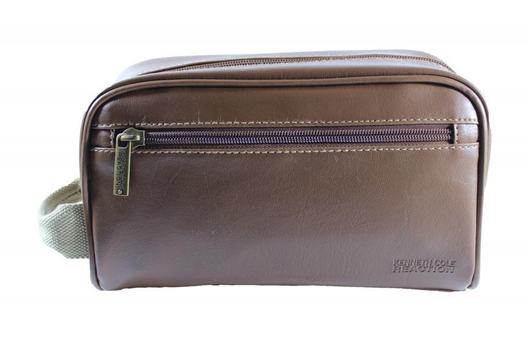 Amazon.com   Kenneth Cole Reaction Men s Brown Toiletry Travel Bag One Size  Brown   Beauty e462dde07d1c3