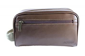 Image Unavailable. Image not available for. Color  Kenneth Cole Reaction  Men s Brown Toiletry Travel Bag One ... bc648611eb084