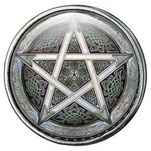 Click-Button Standard (18mm) Limited Edition, Pentagramm ...by Kult-Schmuck 8212