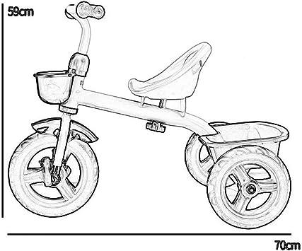 XHSLC Triciclos Triciclo para niños Bicicleta para bebé Trolley ...