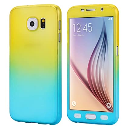 Amazon.com: Samsung Galaxy S6 funda, gradiente 360 grados ...