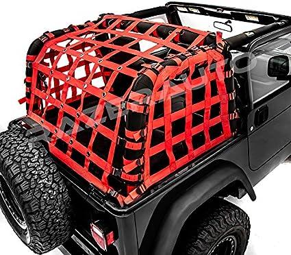 Off Road 2 Door Black Cargo Net System Restraint Net fit 97-06 Jeep Wrangler TJ