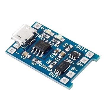 1A USB 18650 batería de Litio 5PCS 5V Micro Carga Tablero ...