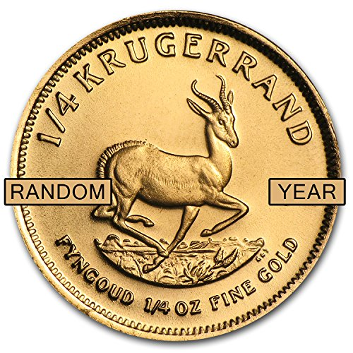 1967 ZA - Present South Africa 1/4 oz Gold Krugerrand (Random Year) Gold About Uncirculated ()