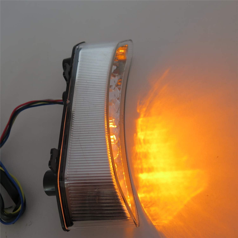 HTT Feu arri/ère LED pour moto avec clignotants int/égr/és pour 2002 2003 Yamaha Yzf R1 Yzf-R1 Yzfr1 Transparent