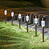 Sogrand 12pcs-Pack,Solar Lights Outdoor,Stainless Steel,Solar Light,Landscape Lighting,Solar Pathway Lights,for Lawn,Patio,Yard,Walkway,Driveway,Pathway,Garden,Landscape ()