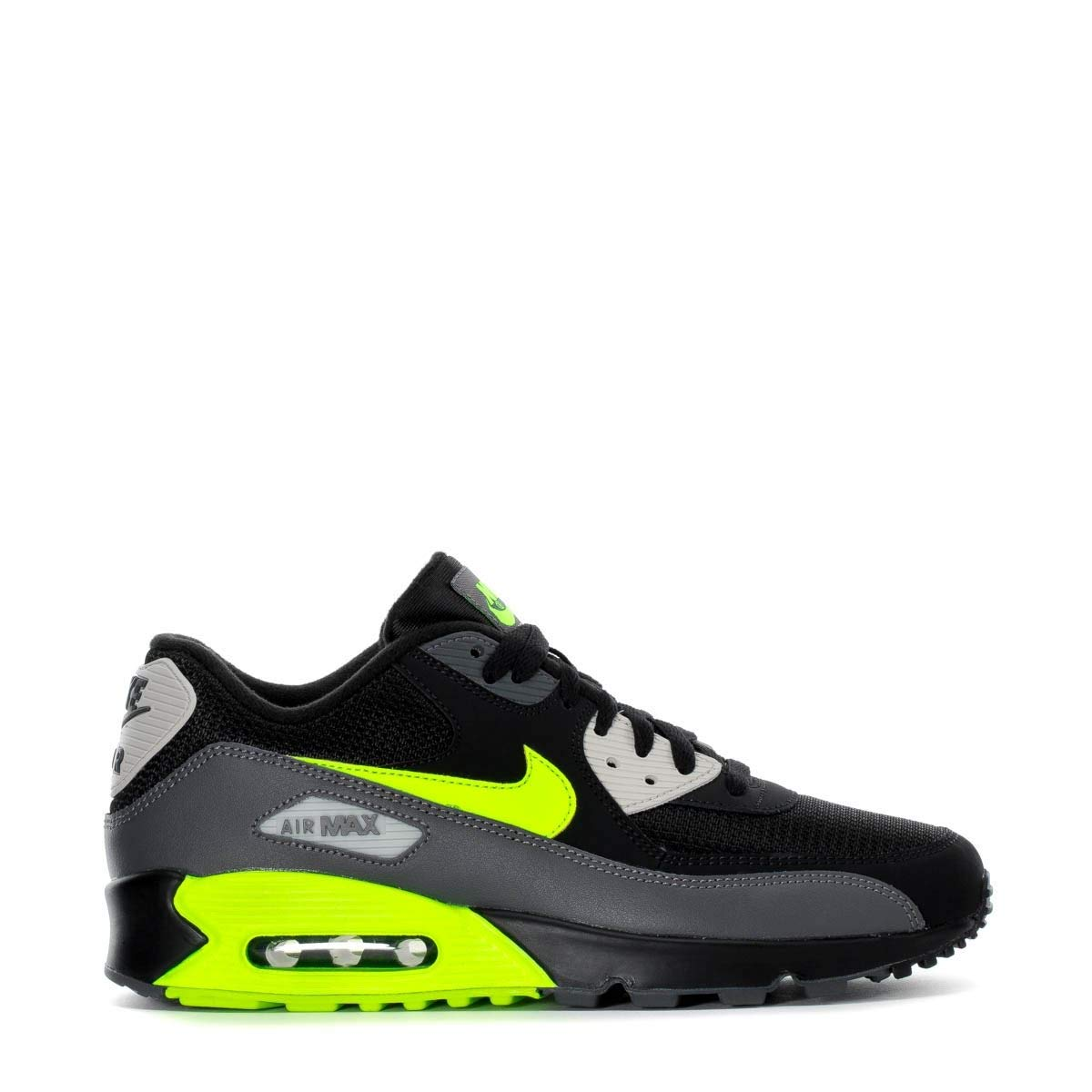 new product bcbc6 536af Galleon - Nike Mens Air Max 90 Essential Running Shoes Dark Grey Volt Black Bone  AJ1285-015 Size 10