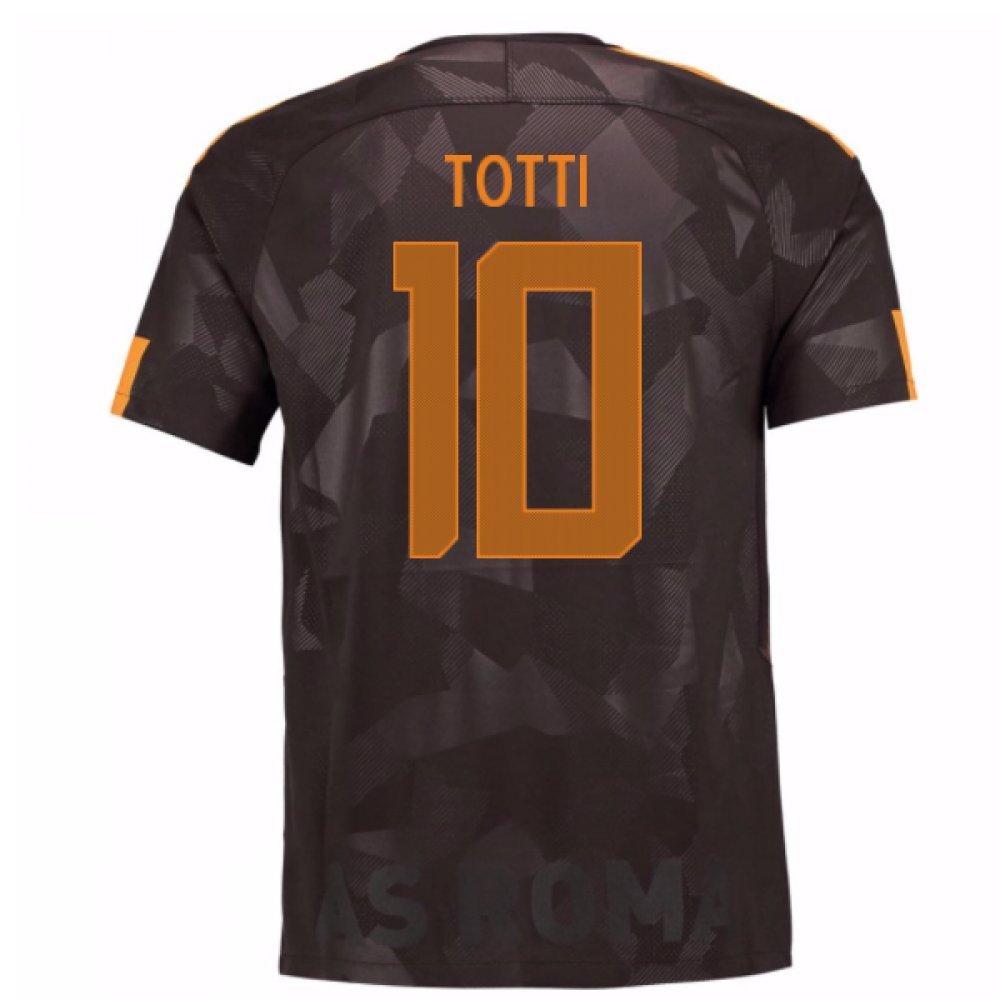 2017-18 Roma Third Shirt (Totti 10) Kids B07849LHMXBlack MB 27-29\