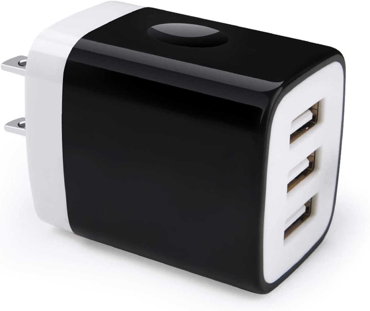 Wall Charger Plug, Hootek 3-Multi Port USB Charger Block Power Adapter 3.1A Charging Cube Brick Compatible iPhone 11 Pro XS XR X 8 7 Plus, iPad, Galaxy S20 FE 5G S10 S9 S8 S7 Note20 Ultra 10+ 9 8, LG