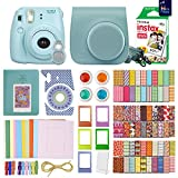 FujiFilm Instax Mini 8 Camera With 20 Instax Film + Accessories KIT for Fujifilm Instax Mini 8 Camera includes: + Custom Fitted Case + Assorted Sticker, Plastic & Paper Frames + Photo Album + MORE