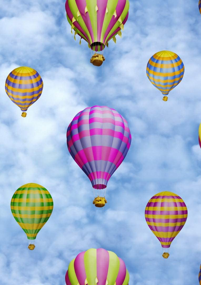 Amazon Com Hot Air Balloon Print Fabric For Curtains Upholstery