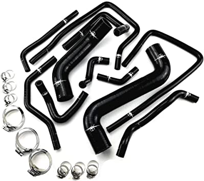 I33T Heater Silicone Hose Kit for Nissan Skyline Series with Clamps Set Blue