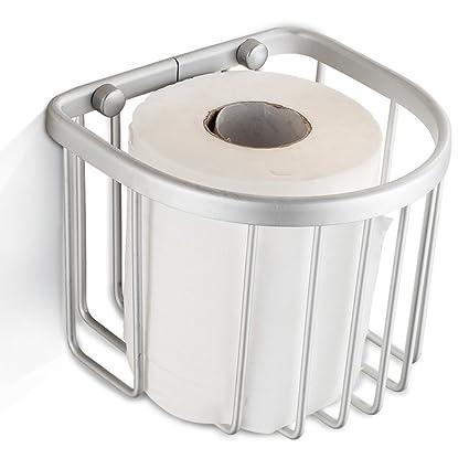 DIDIDD Espacio de papel de aluminio cesta de toallas / papel higiénico titular / toalla de