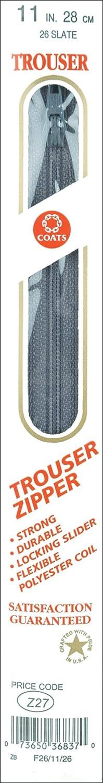 プラスチック製のズボンのジッパー 11」-スレート   B0018N7830