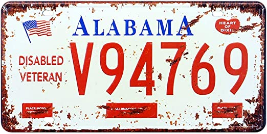 Tennessee State Flag License Plate Tag Wall Sign Man Cave FAST USA SHIPPING