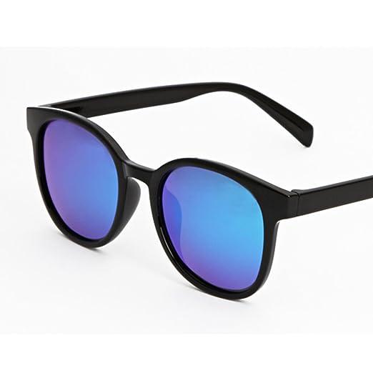 WKAIJC Mode UV Männer Und Frauen Persönlichkeit Bequem Modisch Wild Dunkle Brille Sonnenbrille,D