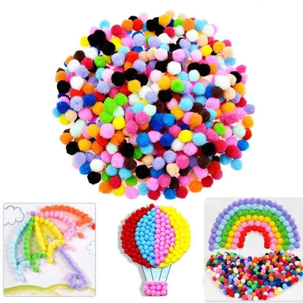 certainPL 100 Pieces Pom Poms for Kids Hobby Supplies and DIY Creative Crafts (Multi)
