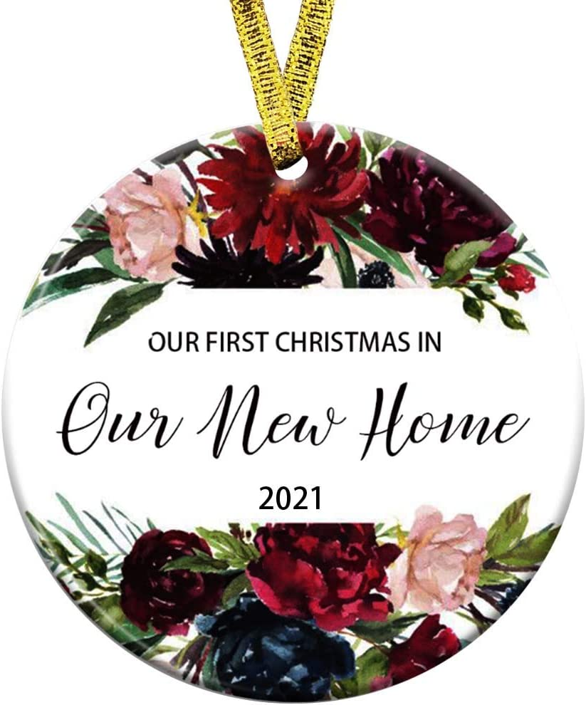 Our First Christmas in Our New Home Ornament 2021 1st Year Married Newlyweds 3