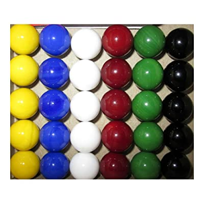 30 new Solid Color Replacement Marbles Wahoo Aggravation Board game GLASS Wa Hoo: Toys & Games