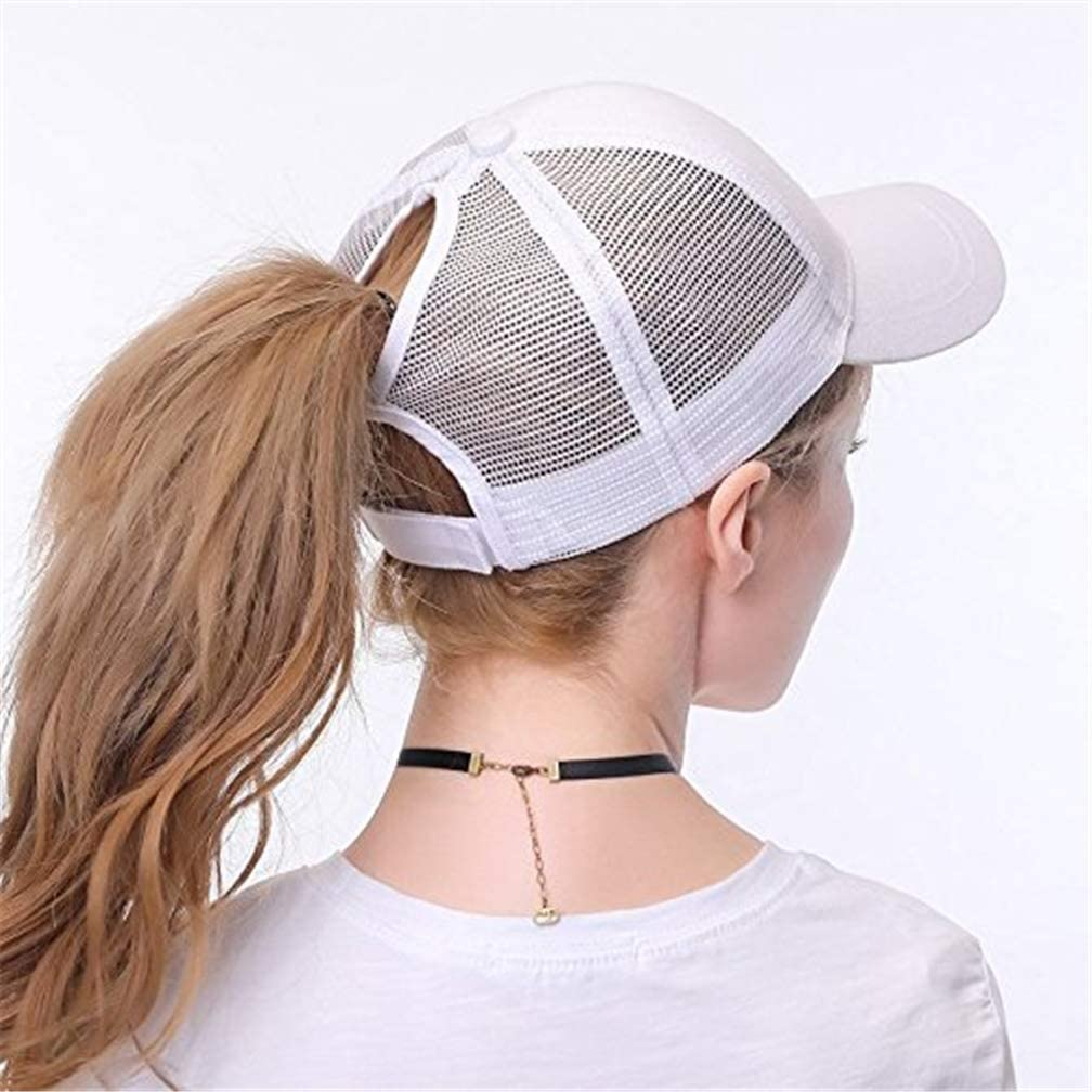 Cappellini da Baseball Colore Solido Donna Traspirante Casuali Estivo Regolabile Traspirante Asciugatura Cappellino in Rete Sport Berretto in Esecuzione Cappello