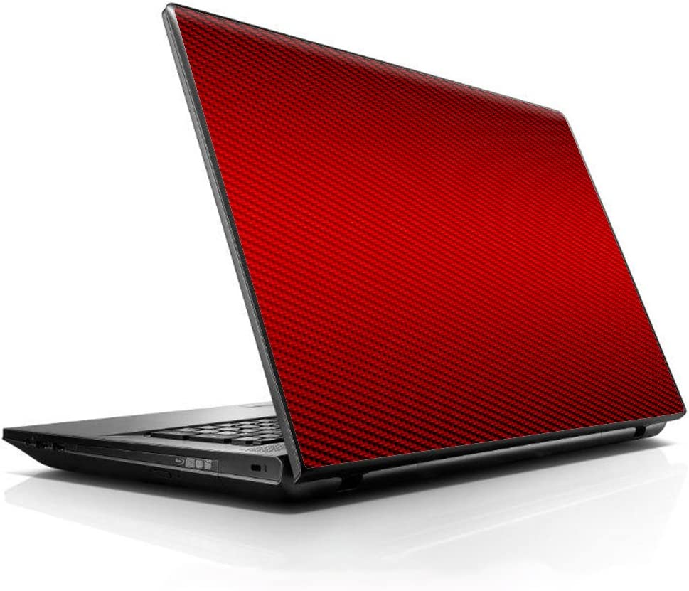 "15 15.6 inch Laptop Notebook Skin Vinyl Sticker Cover Decal Fits 13.3"" 14"" 15.6"" 16"" HP Lenovo Apple Mac Dell Compaq Asus Acer/Red Carbon Fiber Graphite"