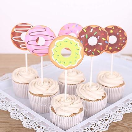 30 decoraciones para cupcakes de rosquilla, decoración de ...