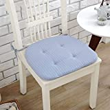 CCYYJJ Large Mirrors Four Seasons With Cordial Ties Cushion Of Chair Seat Cushion Home Office Carrying Case For Chair-Blue 40X40Cm(16X16Cm)