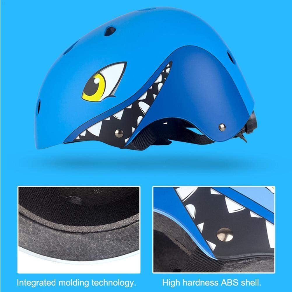 lingzhuo-shop Casco de Bicicleta el/éctrico para ni/ños Montar Equipo de protecci/ón Montar Casco de Patinaje de Bicicleta de acci/ón