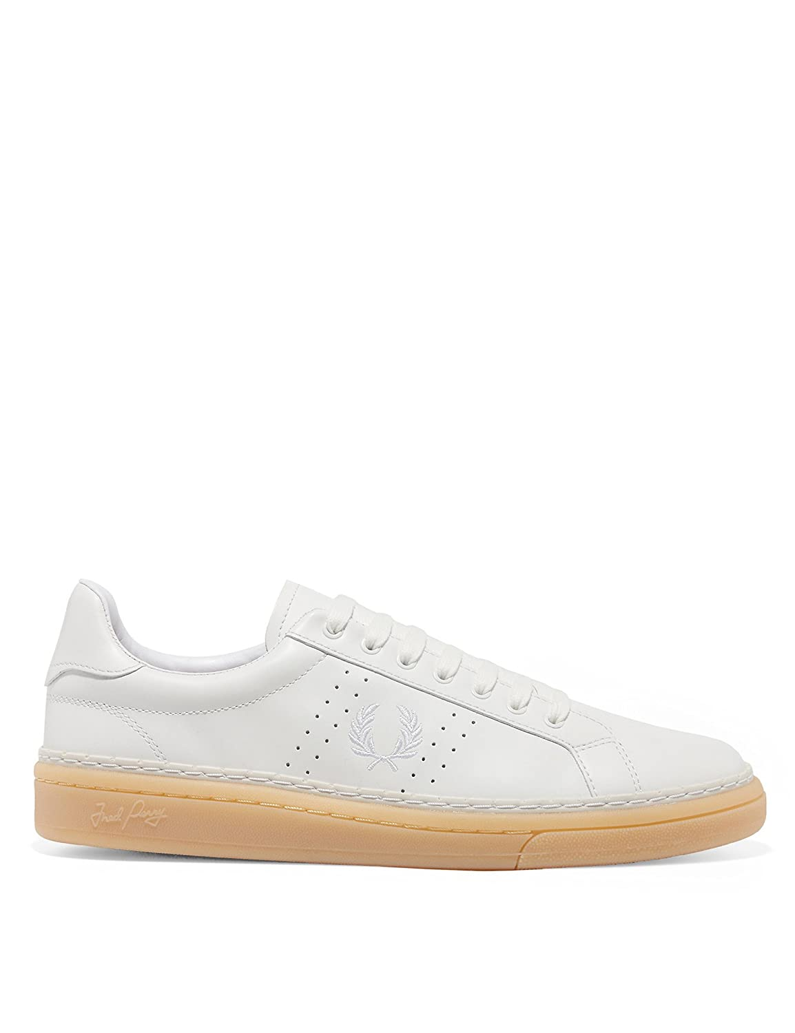 Fred Perry Mens B721 Mens Leather White Tennis Shoes  41.5 EU|Wei?
