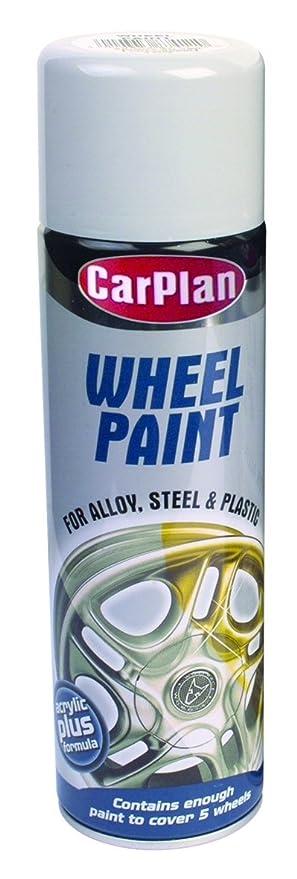 CarPlan wbs500 Pintura de rueda, color plateado brillante