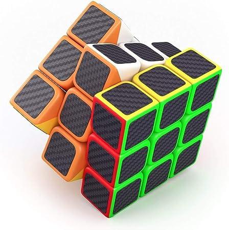TEMSON Babytintin High Speed 3x3 Neon Colors Magic Rubik Cube 3D Brain Teaser Puzzle (Multicolour)