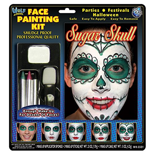 Wolf Novelties Face Painting Kit - Sugar Skull (Skull Face Painting For Halloween)