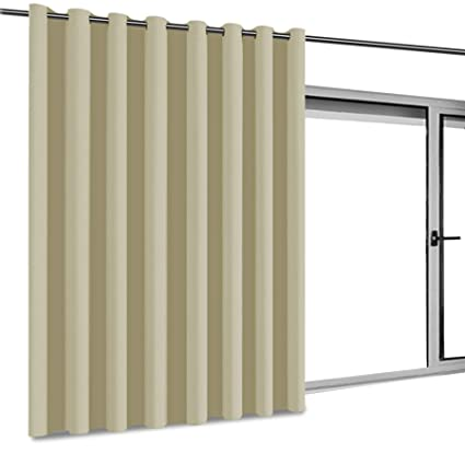 Privacy Room Divider Curtain Thermal Insulated Blackout Patio Door Curtain  Panel, Sliding Door Curtains,