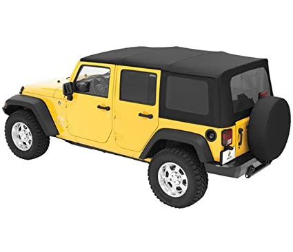 Bestop 54717 35 Black Diamond Supertop Classic Replacement Soft Top  W/Tinted Windows For
