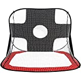 Soccer Net Gate, Foldable Portable Pop Up Children Kids Football Target Shot Net Goal Set