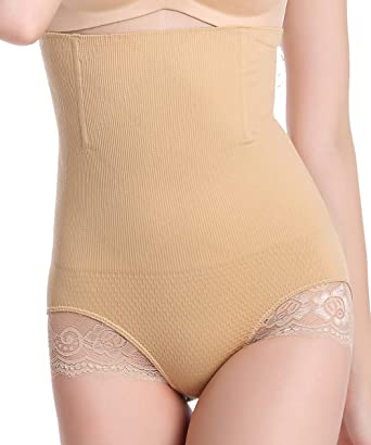bff6e4d78e FUT Women Body Shaper Butt Lifter Hi-Waist Panty Seamless Waist Trainer  Tummy Control Shapewear at Amazon Women s Clothing store