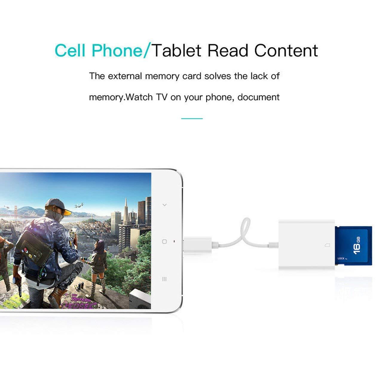 WOSOSYEYO USB 3.1 USB Tipo C-C para Tarjeta SDXC Cable Adaptador de Lector para Macbook Samsung