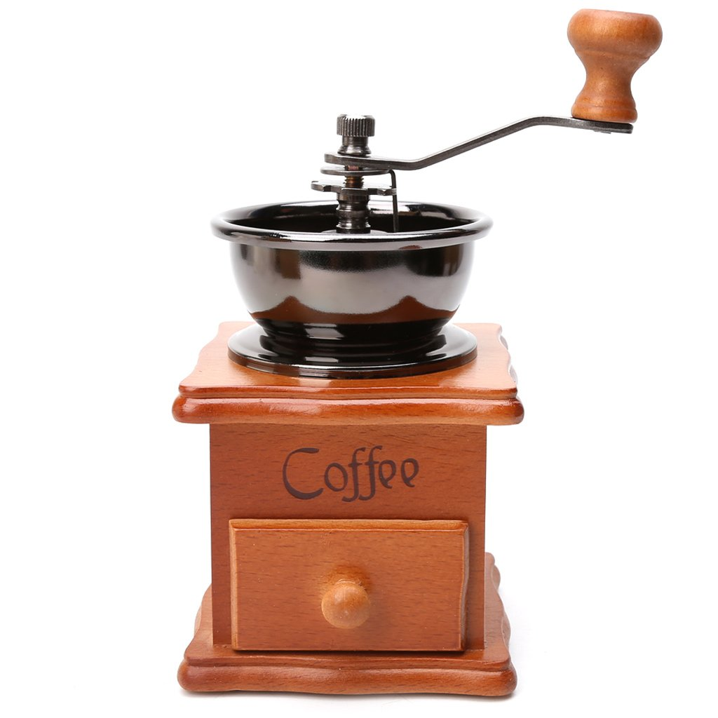 Dabxxx Wooden Stainless Steel Hand Grinder Manual Coffee Beans Spice Grinding Tool