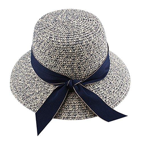 Mainstream Summer Hat For Women Straw Hat For Beach Sun Hat Travel Bucket (Trim Bucket Hat)