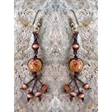 Tan Macrame Earrings