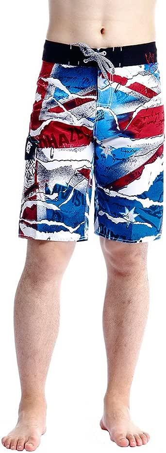 Islandhaze Men's Quick-Drying Swimsuit Boardshorts-Navy