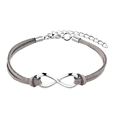 bangle infinity sterling symbol catch silver dp bracelet amazon com