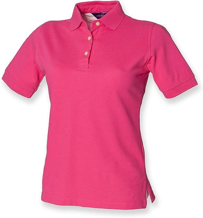 12, Fuchsia) - Henbury Ladies Classic Pique Polo Shirt: Amazon.es ...