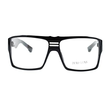 super nerd clear lens eyeglasses boxy square frame glasses black