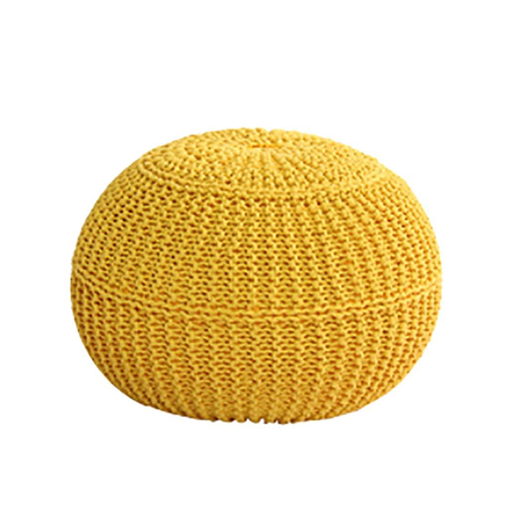 Gelb Faules Sofa Sitzsack, Balkon Mini Cotton Thread Sitzsack Sofa, Partikel Gefüllt, Ohne Knochen Design, Sieht Aus Wie Rund, Sehr Niedlich (Farbe   Gelb)